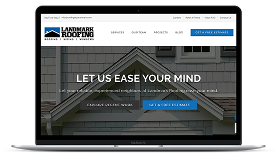 Landmark Roofing Website