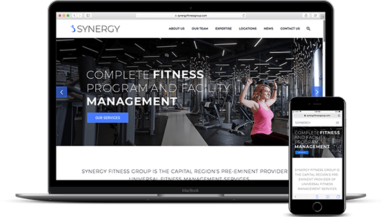 Synergy Fitness Website